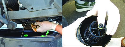 Figuras 7 e 8 - O óleo e o filtro podem ser trocados aquecidos ou à temperatura ambiente