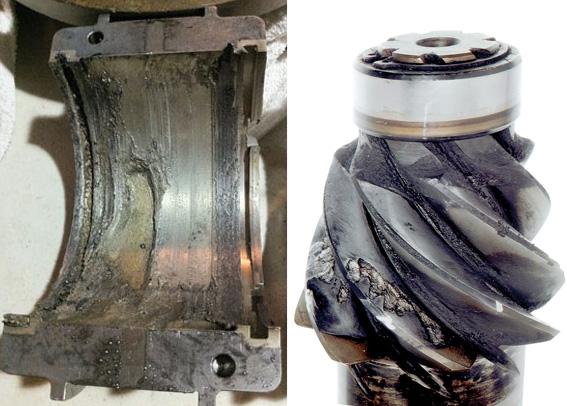 Figuras 1/2 - Componentes mecânicos: Muitas vezes o lubrificante é culpado injustamente pela falha