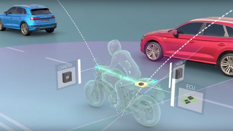 Motos podem ter sistema de segurança em 360 graus