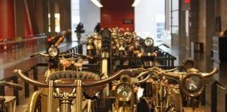 Museu da Harley-Davidson em Milwaukee, nos Estados Unidos, guarda raridade da marca (Foto: Rafael Miotto/G1)