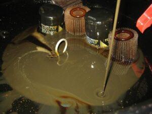 água em óleos