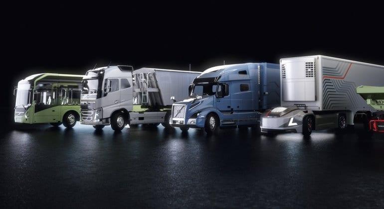 Caminhões e ônibus comerciais autônomos