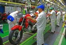 A produção de motos