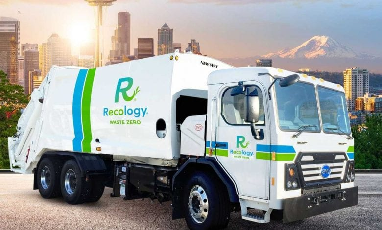 Caminhões de lixo a hidrogênio
