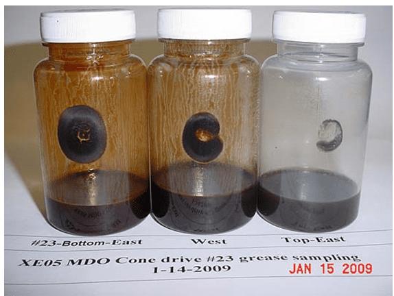 Análise de resíduos ferrosos em graxas