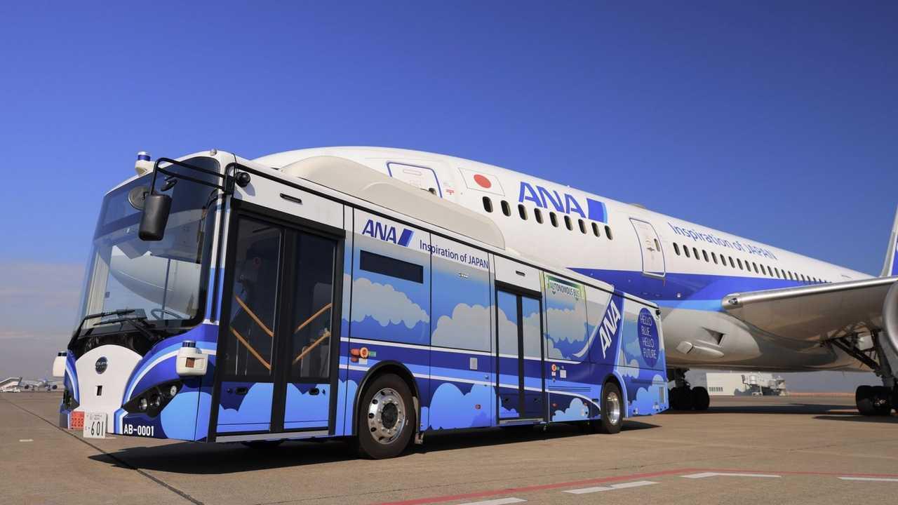 Ônibus elétrico autônomo da BYD