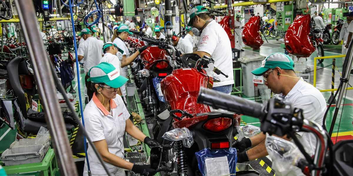 Produção de motos em Manaus