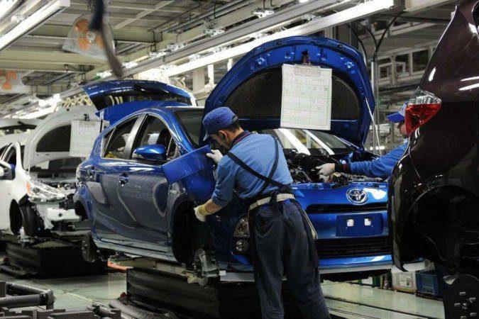 Produção de veículos automotores