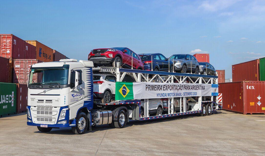 Exportações de veículos desaceleram no segundo semestre
