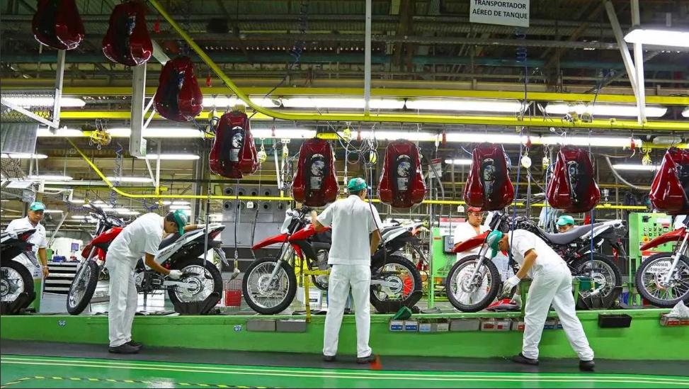 Produção de motos em 2021
